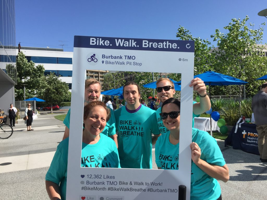 five bike and walk to work participants